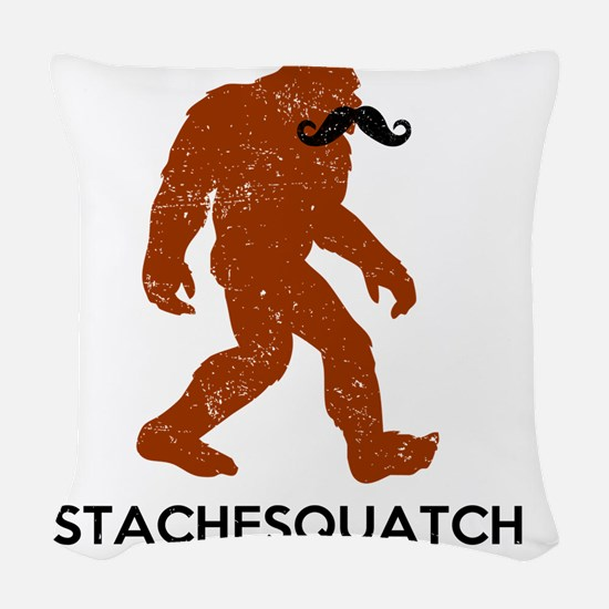 Stachesquatch Woven Throw Pillow