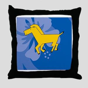 Horse Womens All Over Print T-Shirt Throw Pillow