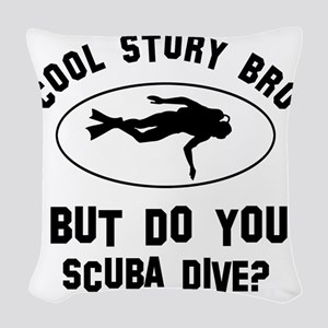 Coot Story Bro But Do You Scub Woven Throw Pillow