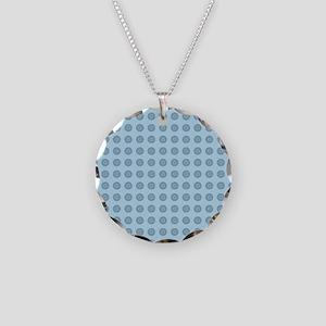 Aqua circles Necklace Circle Charm