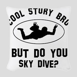 Coot Story Bro But Do You Sky  Woven Throw Pillow