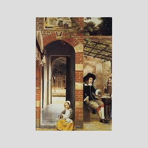 Pieter de Hooch Courtyard Of A Ho Rectangle Magnet