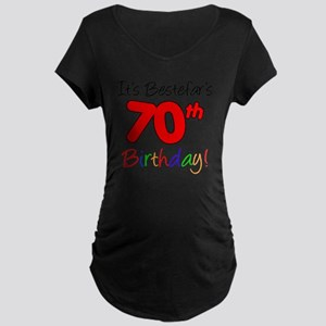 Bestefars 70th Birthday Maternity Dark T-Shirt