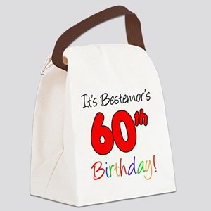 Bestemors 60th Birthday Canvas Lunch Bag