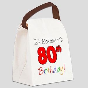 Bestemors 80th Birthday Canvas Lunch Bag
