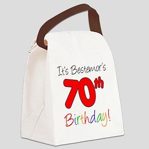 Bestemors 70th Birthday Canvas Lunch Bag