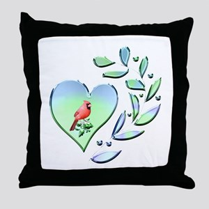 Cardinal Lover Throw Pillow