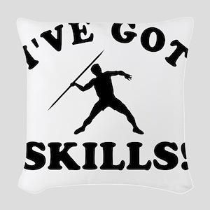 Ive Got Javelin Skills Woven Throw Pillow