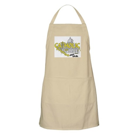 Catholic and Christian (Gold) BBQ Apron
