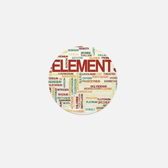 Chemical Elements Mini Button