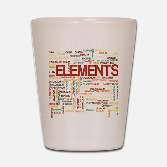 Chemical Elements Shot Glass