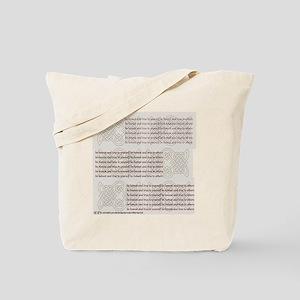 Be honest Be True celtic Tote Bag