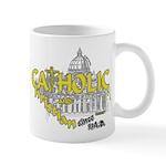 Catholic and Christian (Gold) Mug