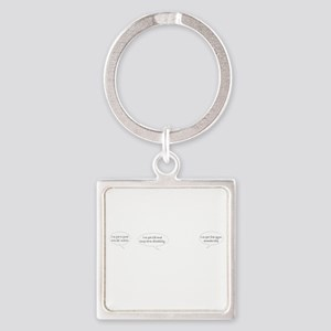 friends with benefits white Square Keychain