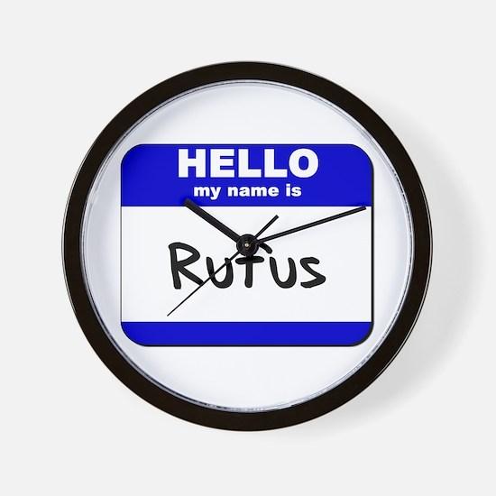 hello my name is rufus  Wall Clock