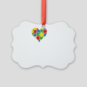 loveAutisticGrandson1B Picture Ornament