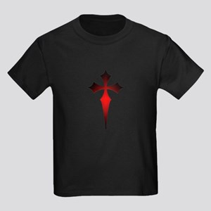 Gothic Fitchy Cross Kids Dark T-Shirt