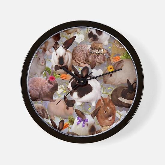 Happy Bunnies Wall Clock
