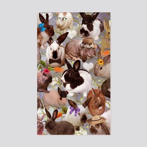 Happy Bunnies Sticker (Rectangle)