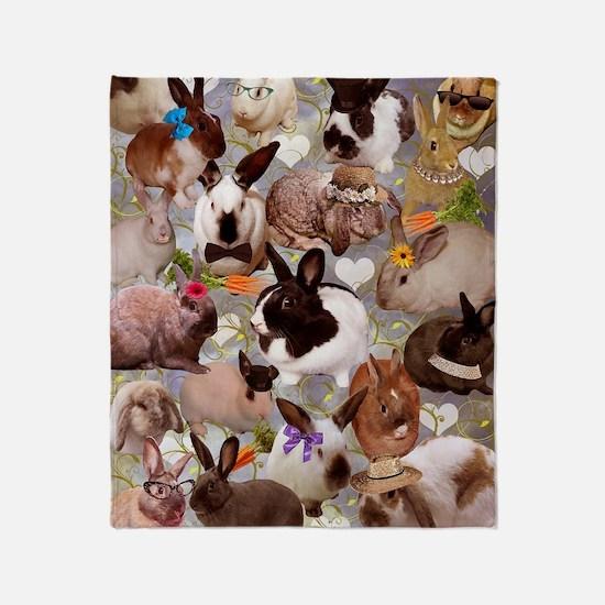 Happy Bunnies Throw Blanket