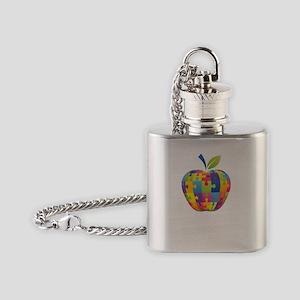 teachCompass1B Flask Necklace