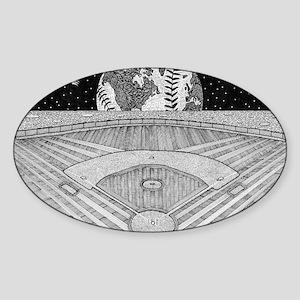 Ballpark Moon Sticker (Oval)