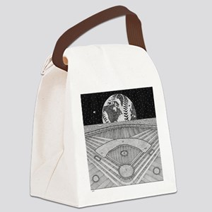 Ballpark Moon Canvas Lunch Bag