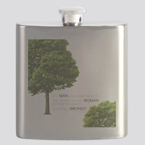 IF A MAN SAYS SOMETHING IN THE WOODS... Flask