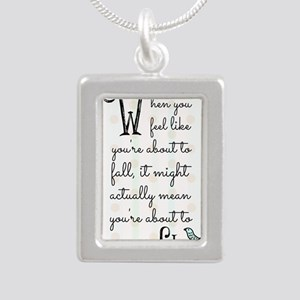 When you feel like youre Silver Portrait Necklace
