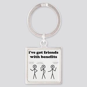 friends with benefits Square Keychain