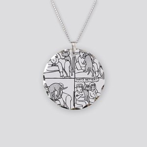 On The Sofa Necklace Circle Charm