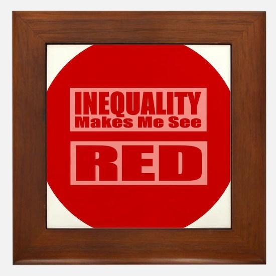 Marriage Equality Equal Sign Framed Tile