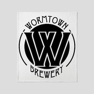 Wormtown_BW_Logo Throw Blanket