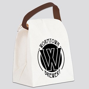 Wormtown_BW_Logo Canvas Lunch Bag