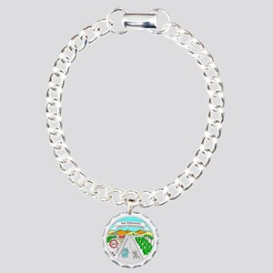 SFVG Button Charm Bracelet, One Charm