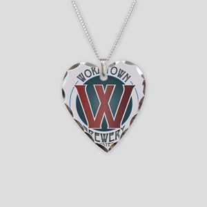 Wormtown_Color_Logo Necklace Heart Charm