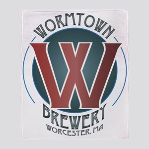 Wormtown_Color_Logo Throw Blanket