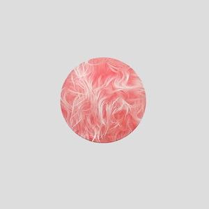 Pink Fake Fur Pattern Mini Button