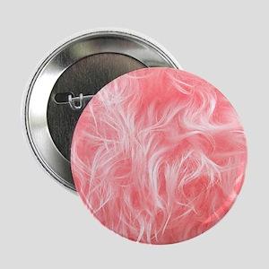 """Pink Fake Fur Pattern 2.25"""" Button"""