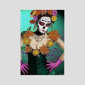 Flowers - Dia de los Muertos Rectangle Magnet