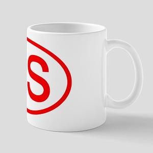 RS Oval (Red) Mug