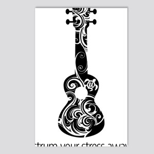 Strum Stress Away Postcards (Package of 8)
