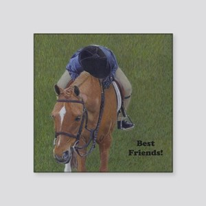 "Young Rider and Pony Square Sticker 3"" x 3"""