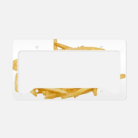 french fries large License Plate Holder