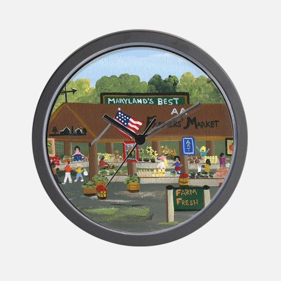 Farmers Market Wall Clock