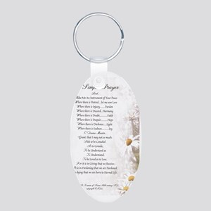Pope Francis St. Francis SI Aluminum Oval Keychain