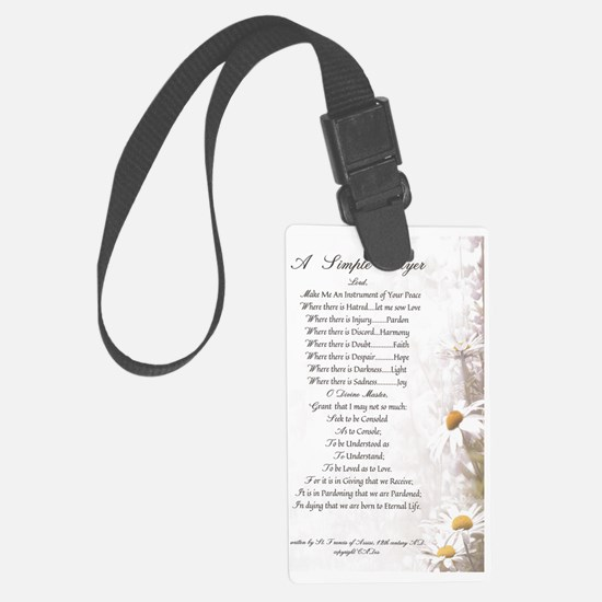 Pope Francis St. Francis SIMPLE  Luggage Tag