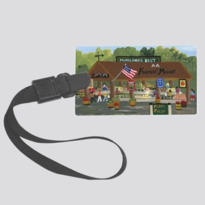 Farmers Market Large Luggage Tag