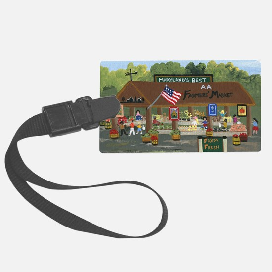 Farmers Market Luggage Tag