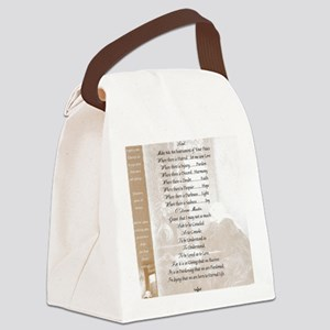 Pope Francis St. Francis SIMPLE P Canvas Lunch Bag